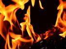 दुकान में लगाई आग